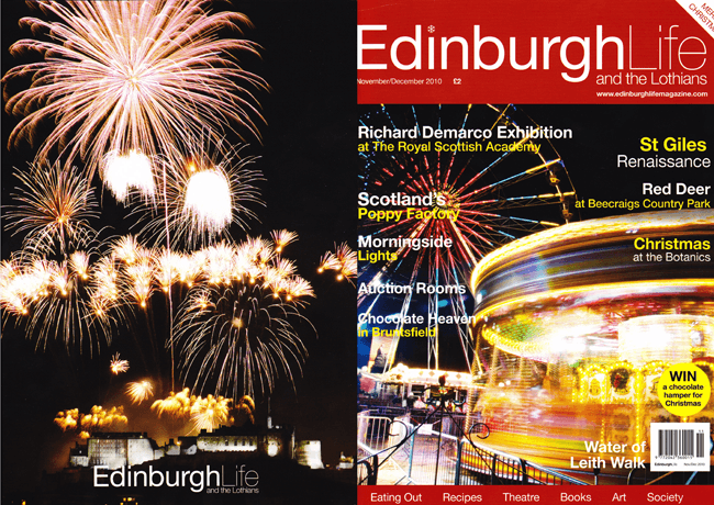 front cover of Edinburgh Life magazine