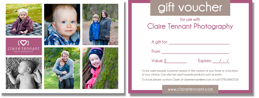 Portrait Photography Gift Voucher