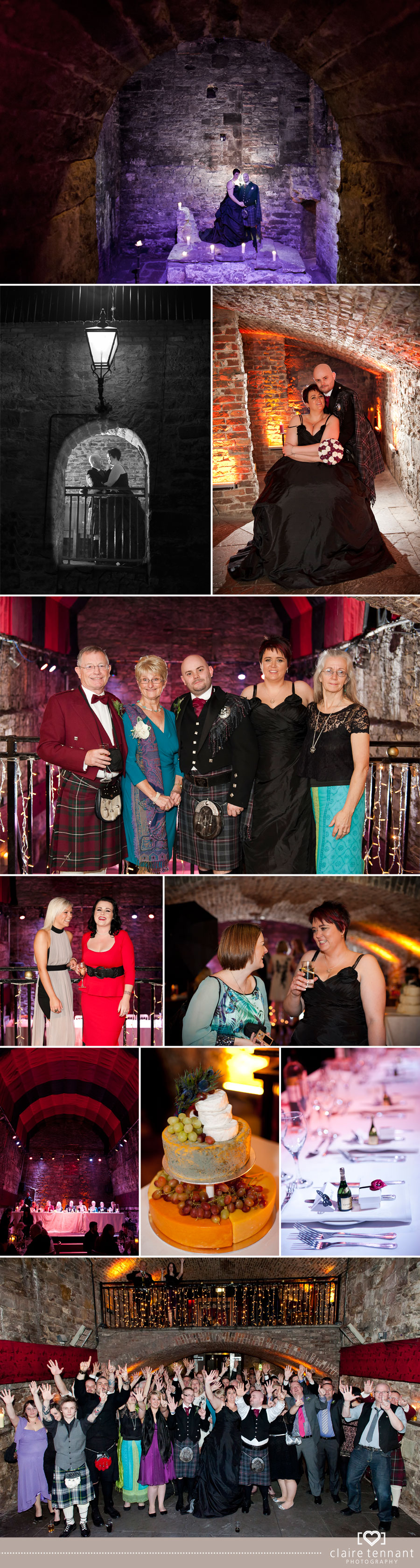 Wedding Photography at The Caves in Edinburgh