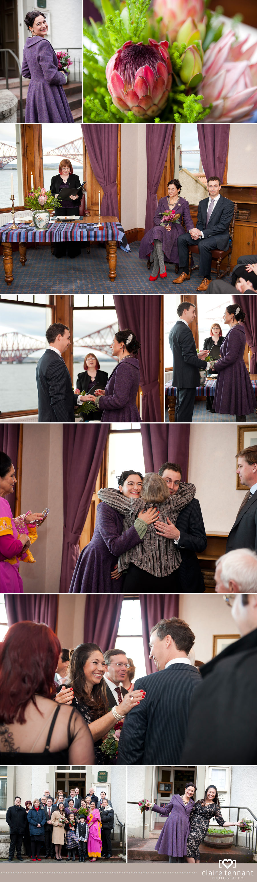 Natalie & Ronalds Wedding at South Queensferry Registry Office
