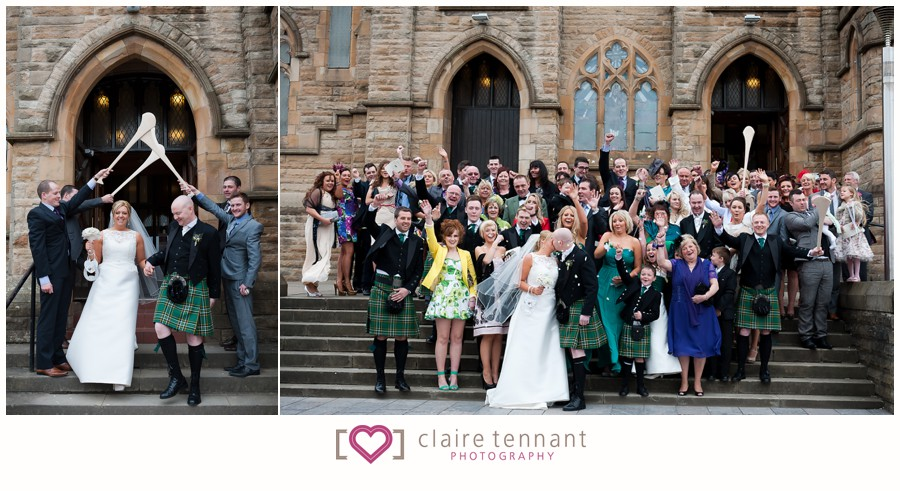 wedding at st patricks and christ the king hall  glasgow