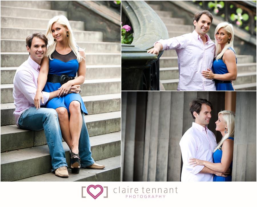 pre-wedding shoot in Princes Street Gardens