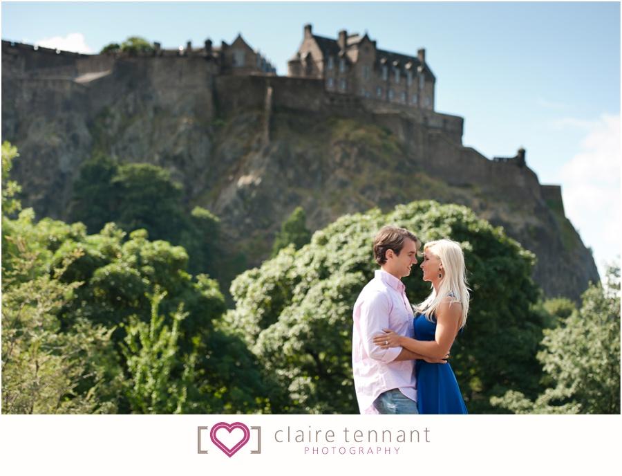 pre-wedding shoot edinburgh castle