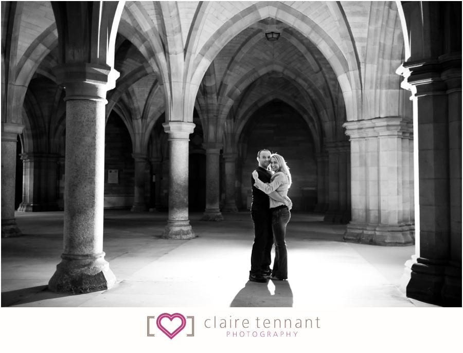 Glasgow University pre-wedding shoot