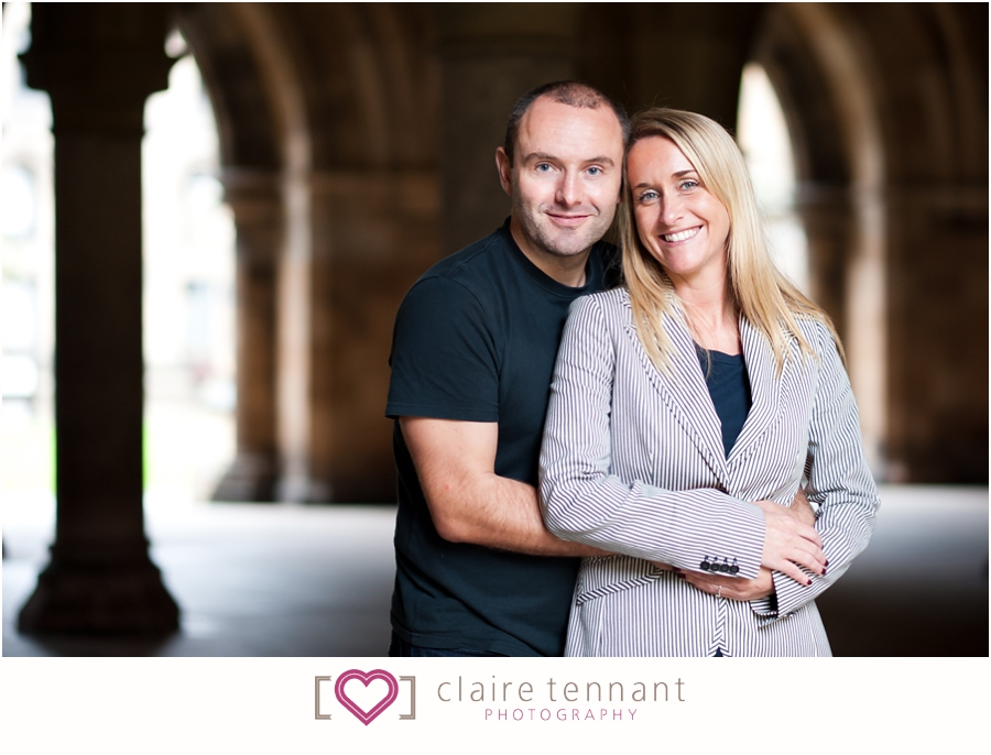 Glasgow University pre-wedding shoot