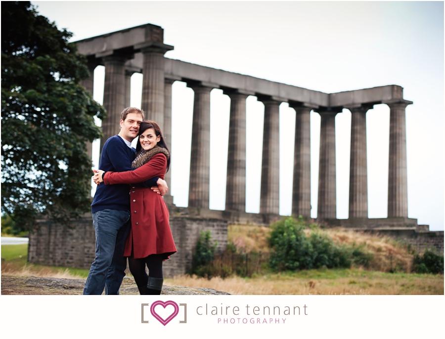 Pre-wedding photoshoot on Calton Hill