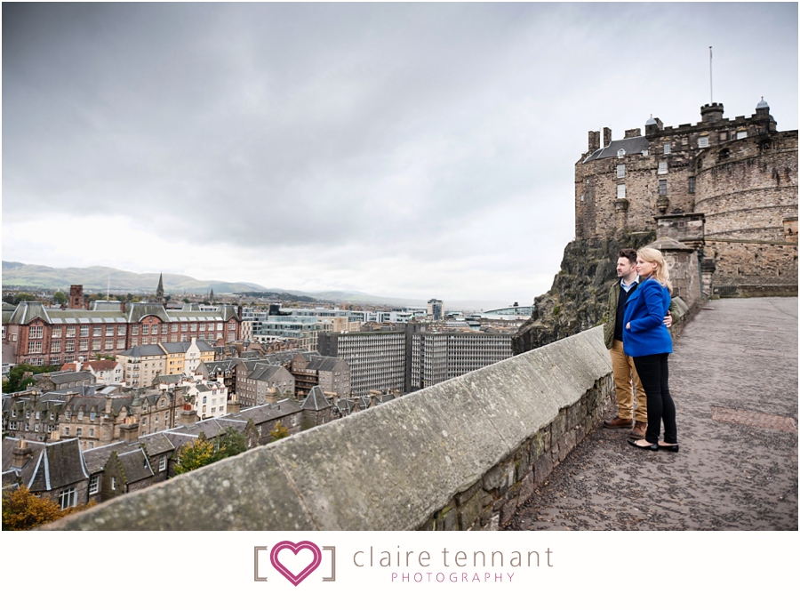 Edinburgh Castle engagement shoot