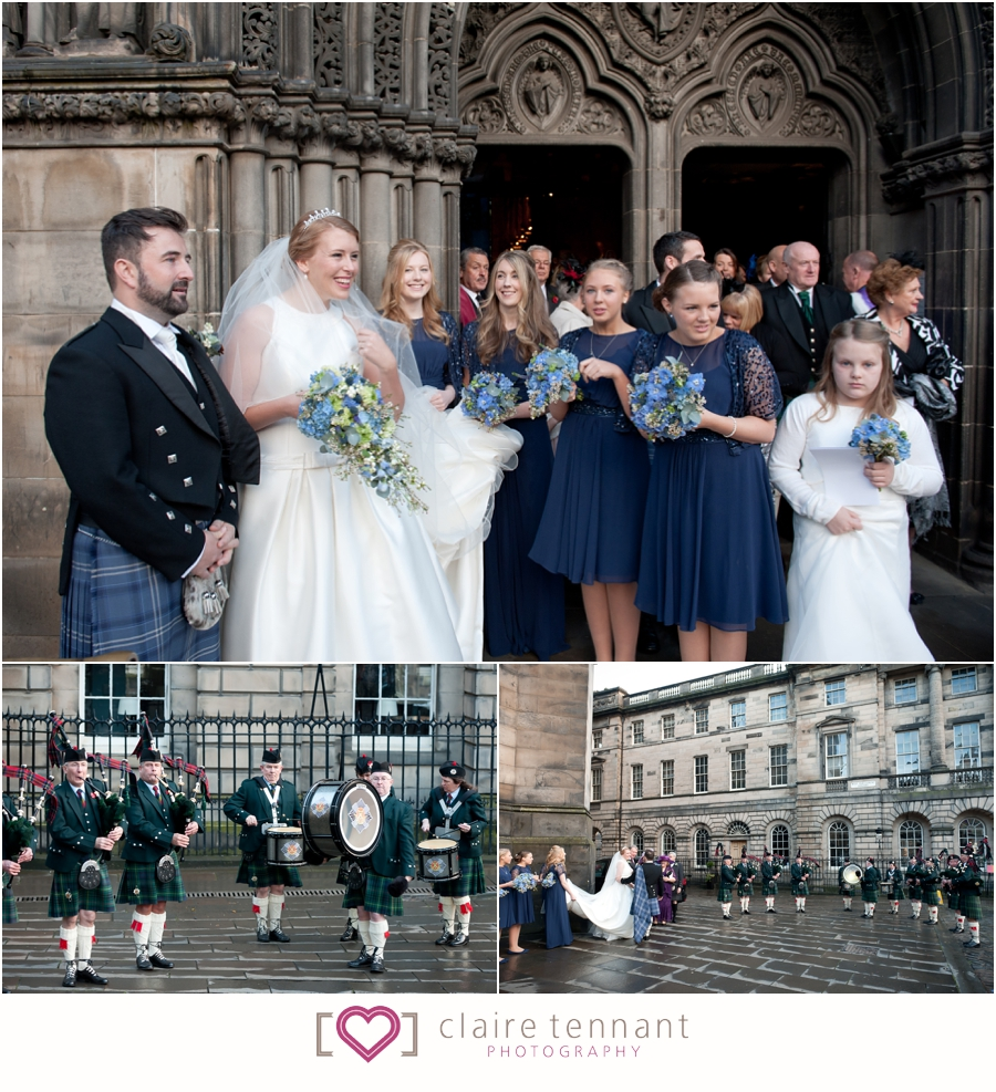 Beautiful St Giles Cathedral And Edinburgh Castle Wedding