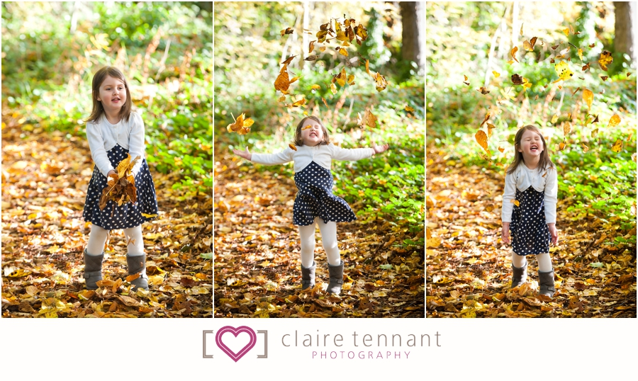 Autumn child photography