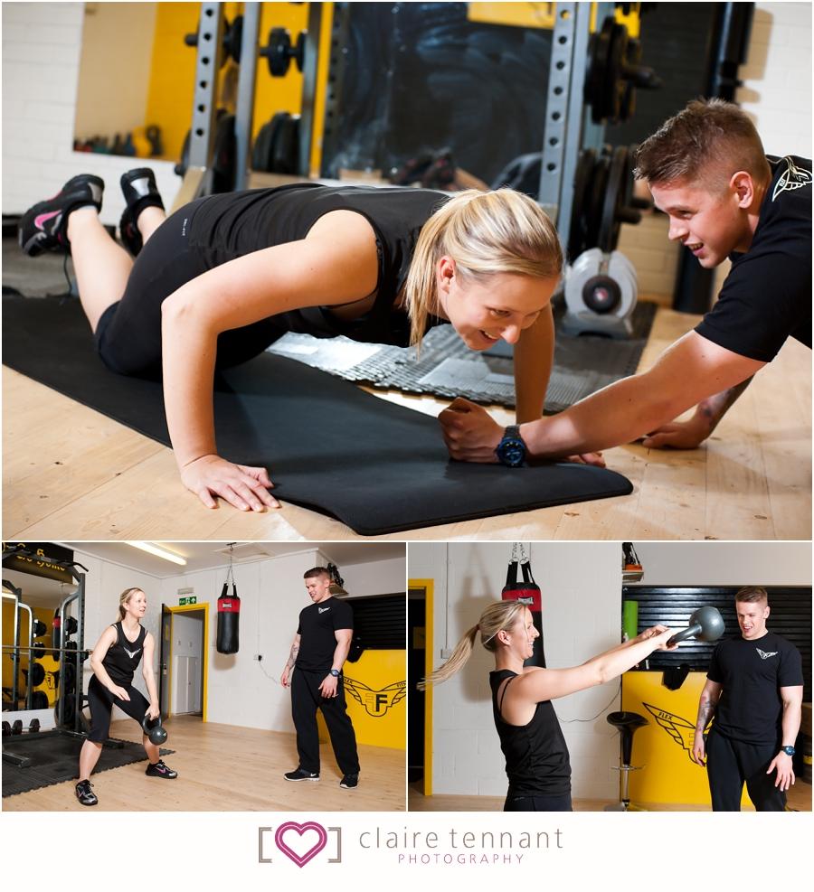gym photography west lothian