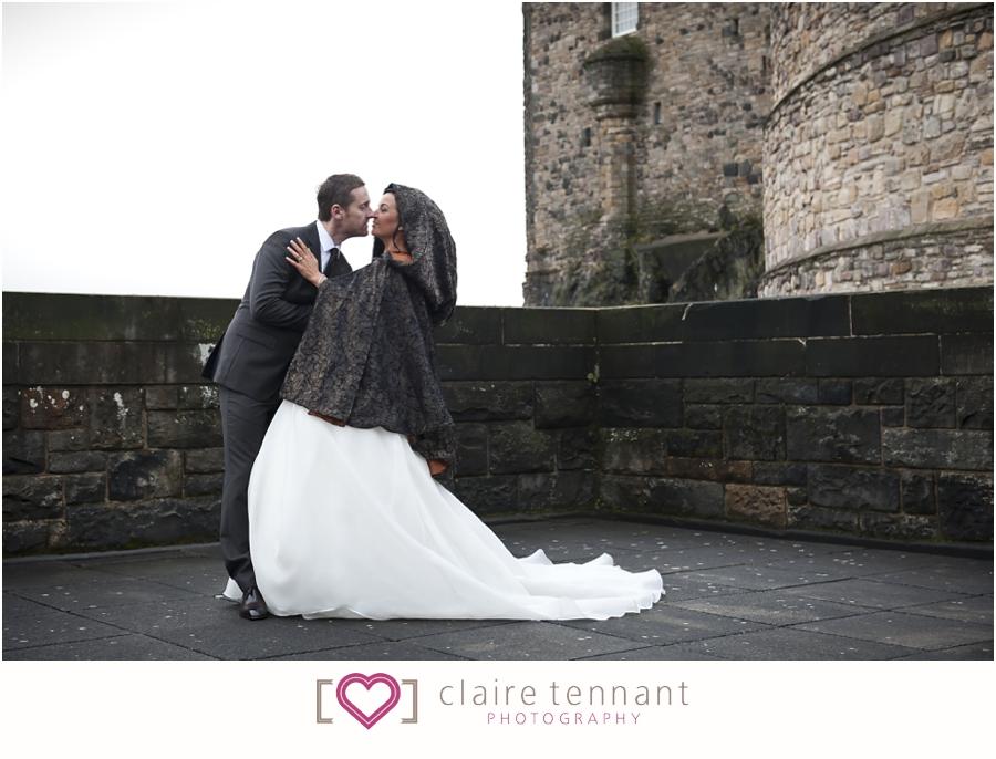 Edinburgh Castle Wedding Photography