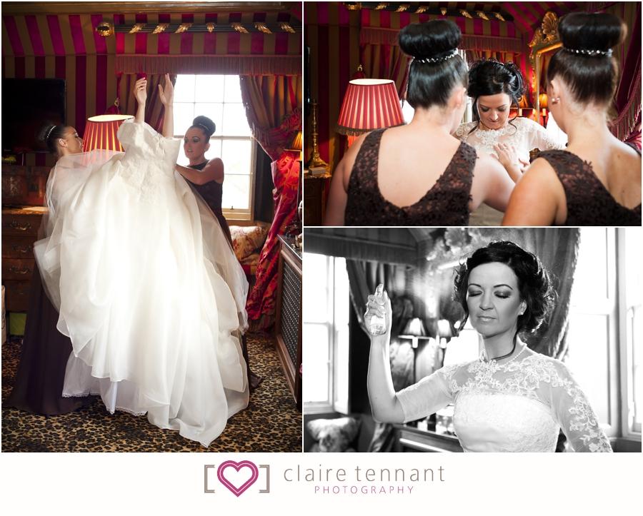 Prestonfield House wedding preperations
