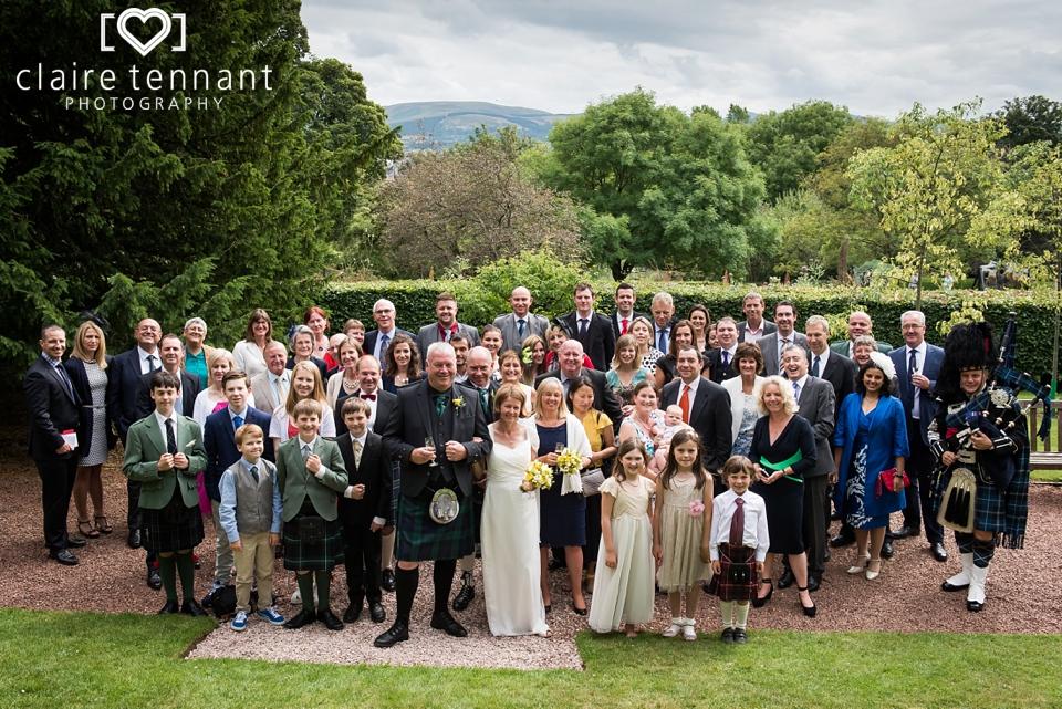 Edinburgh Zoo Wedding Group Photo