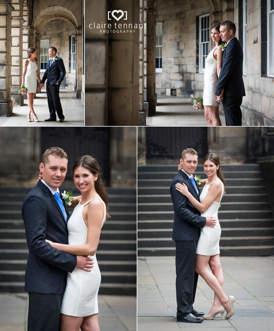 Small wedding Edinburgh photography