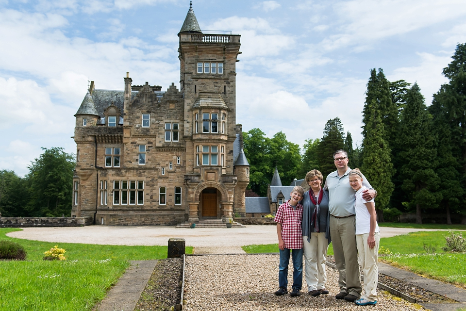 Family Photography at Dollarbeg Castle near Stirling