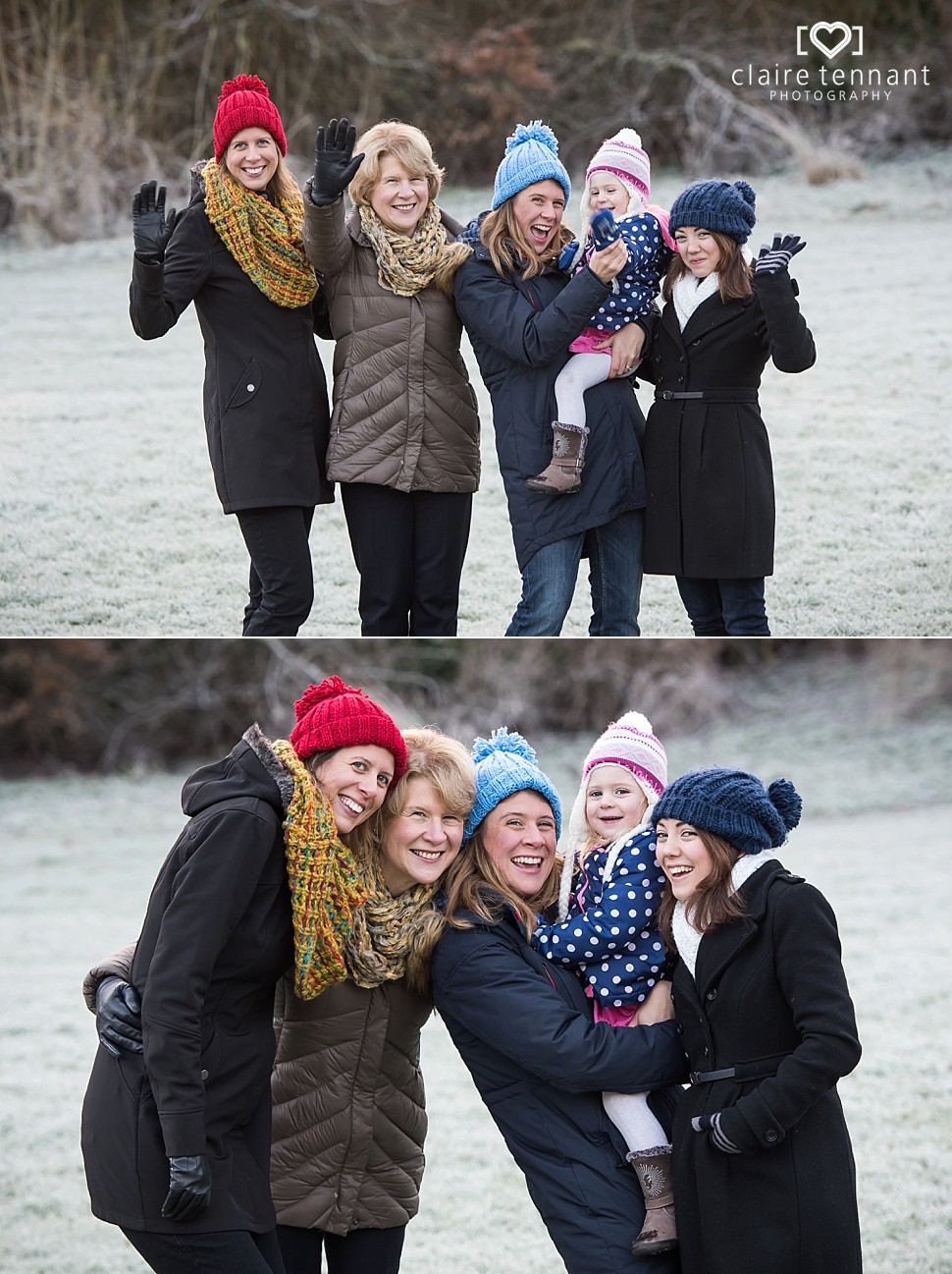 Outdoor Winter Family Shoot