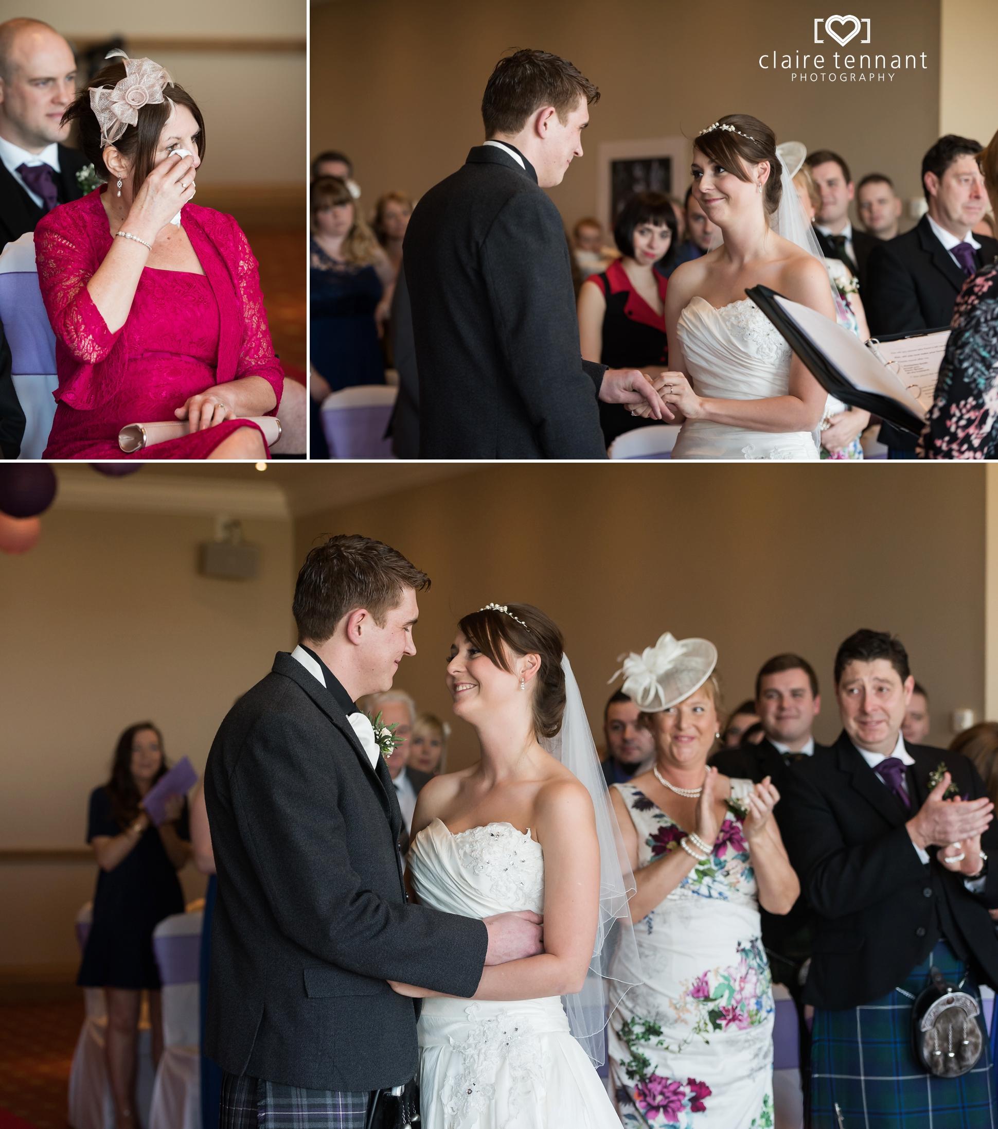 Macdonald Marine Hotel Wedding ceremony