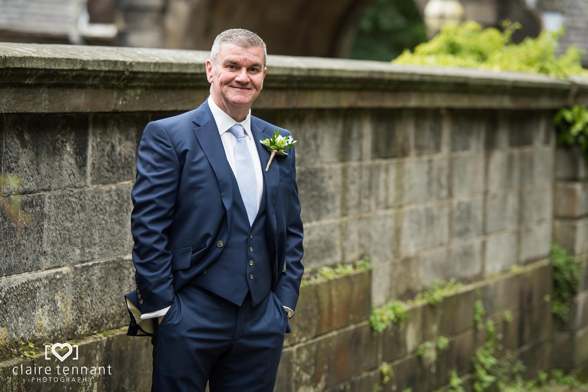 groom before pollok house wedding