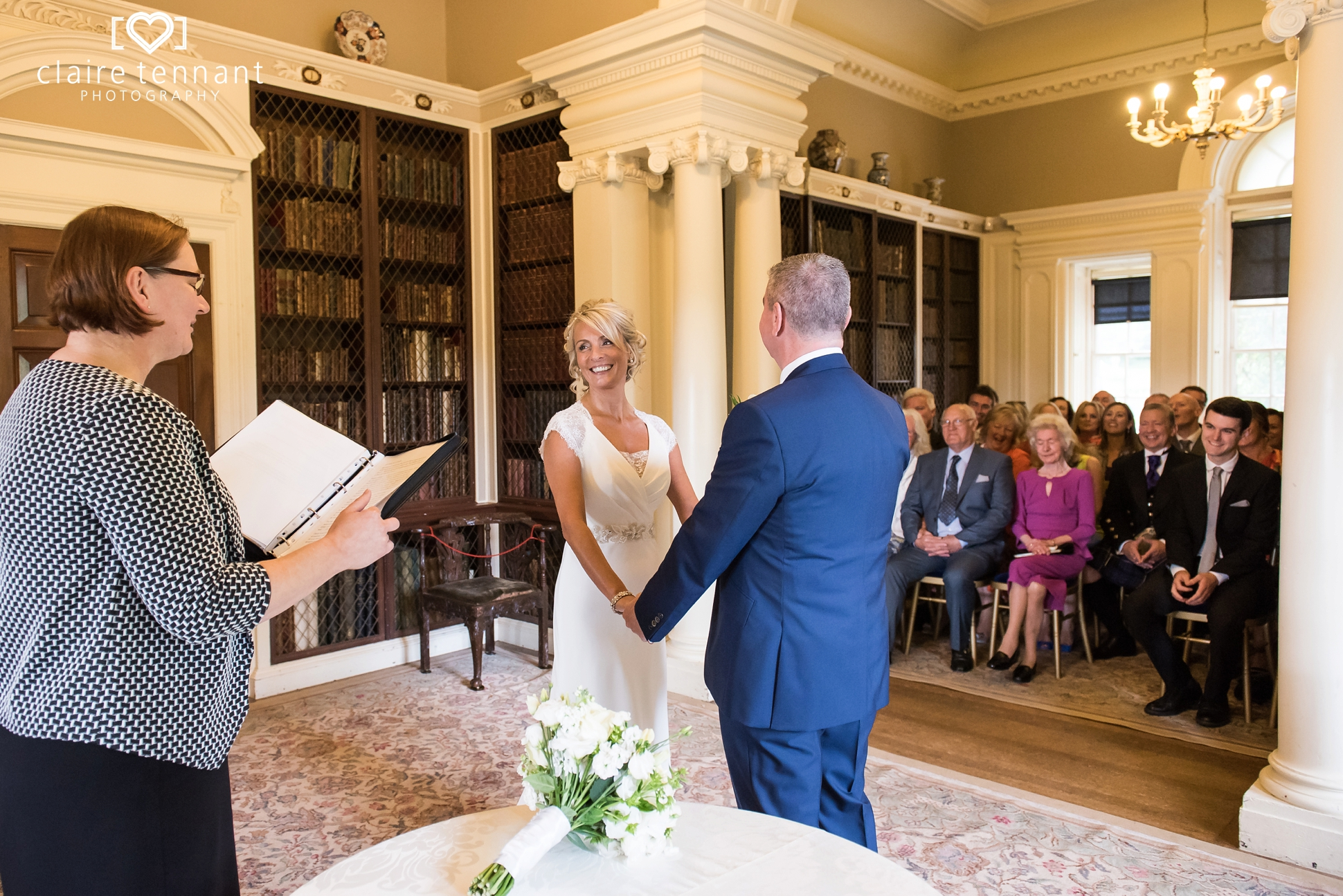 pollok house wedding Pavillion Library