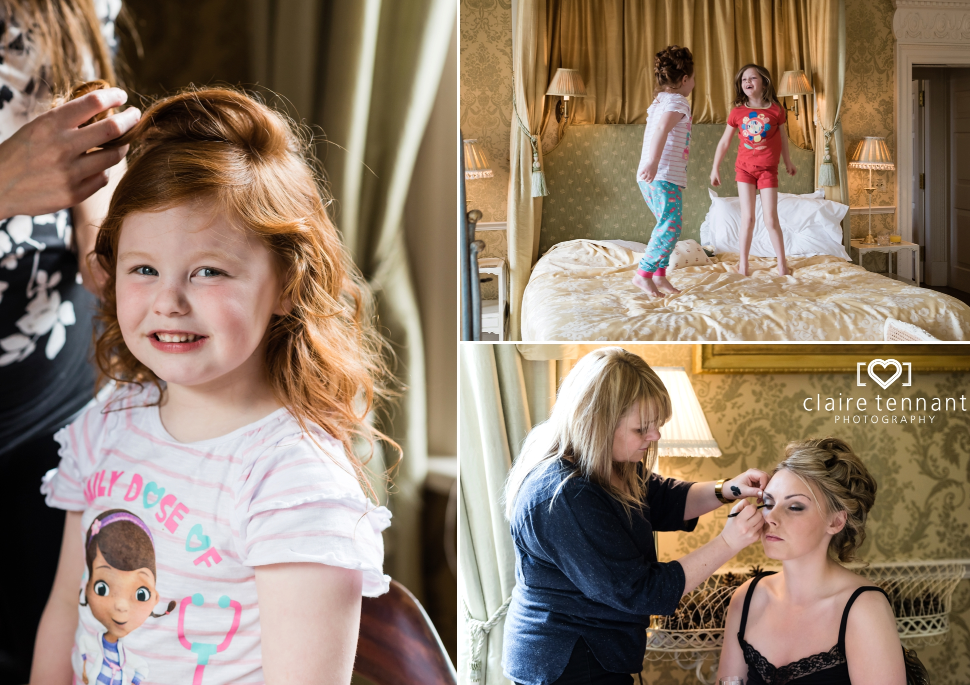 Archerfield Mansion House bridal preperations
