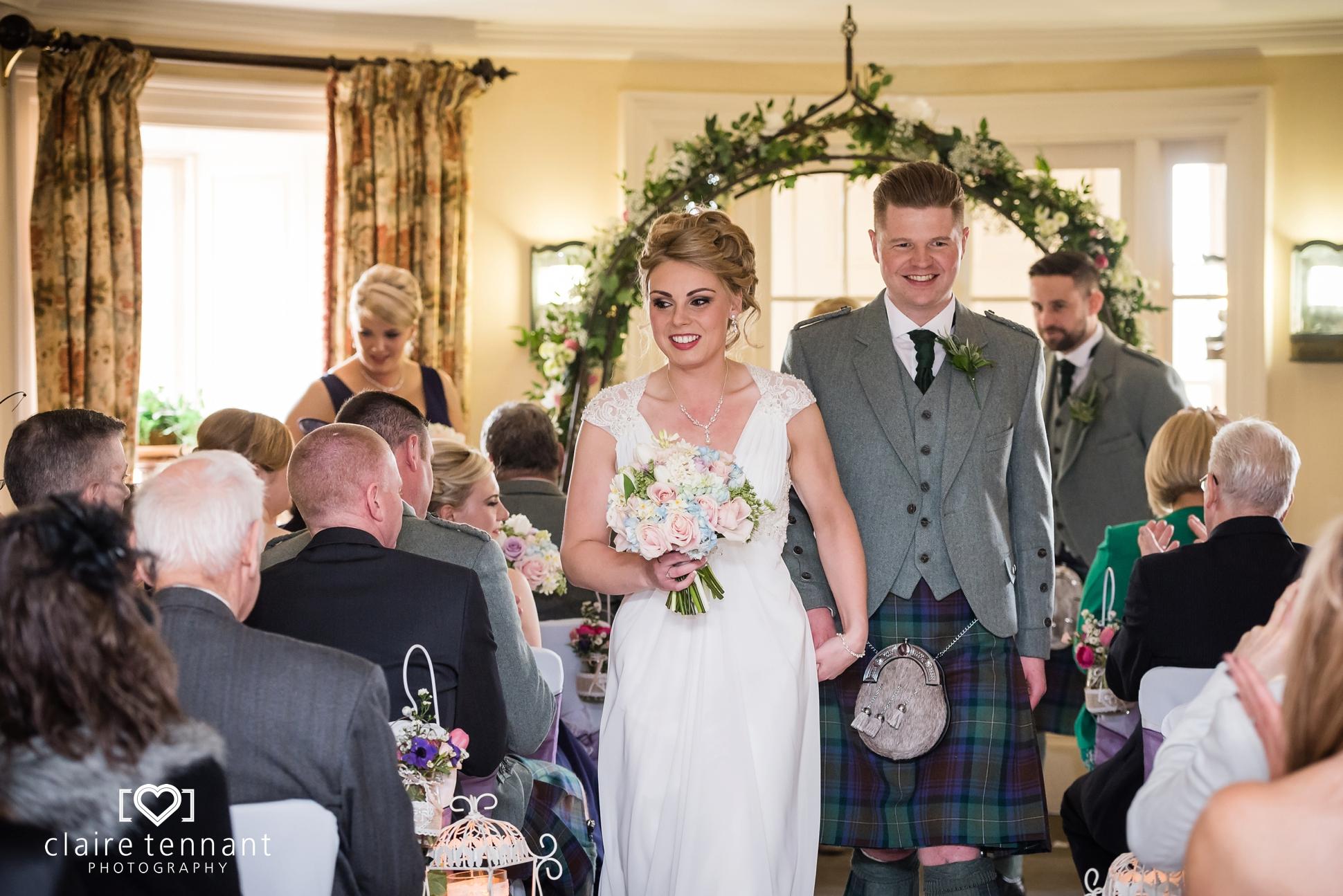 Archerfield Mansion House wedding ceremony