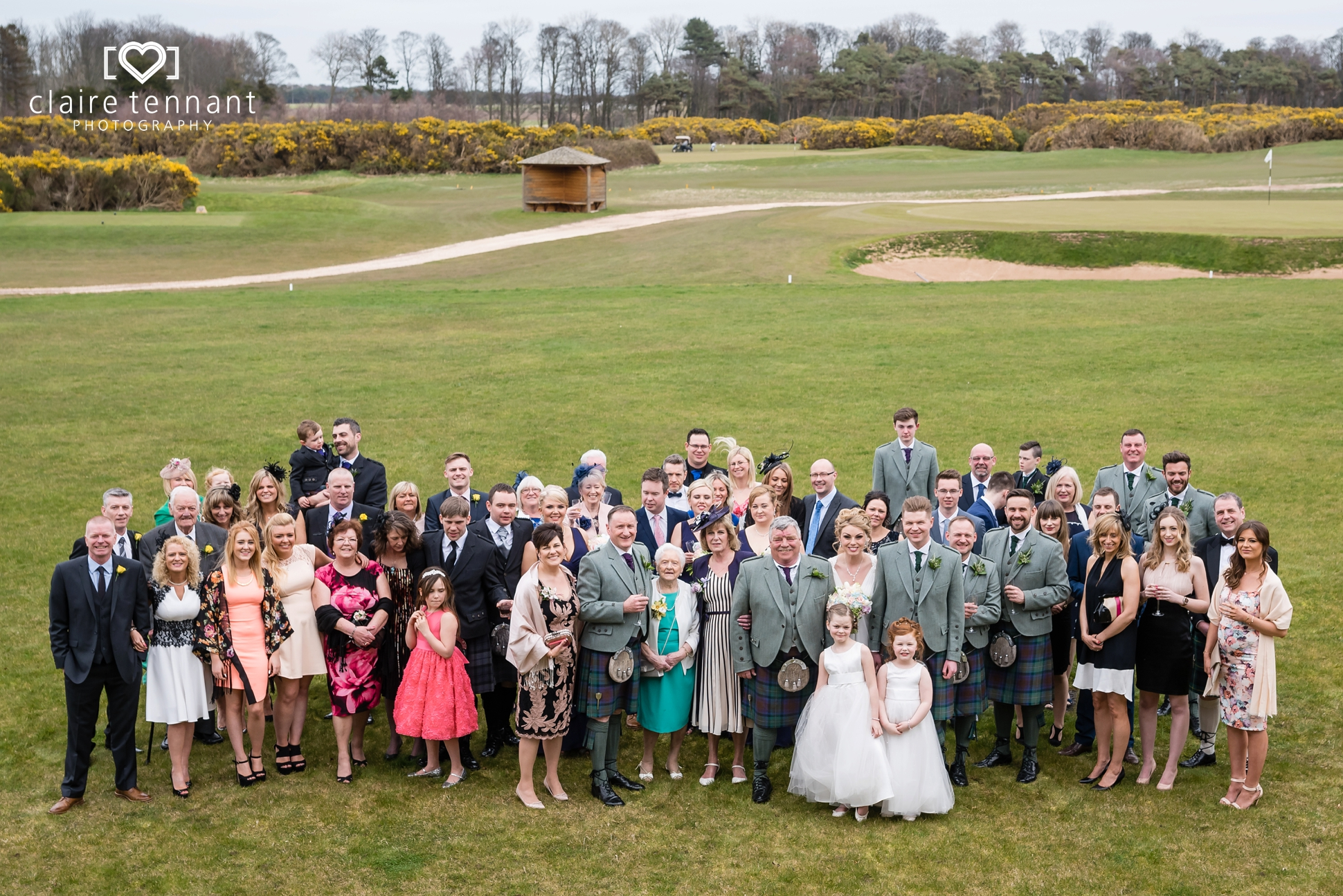 Archerfield Mansion House wedding group photo