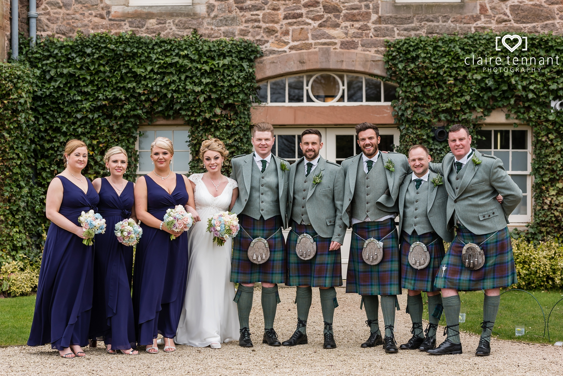 Archerfield Mansion House bridal party