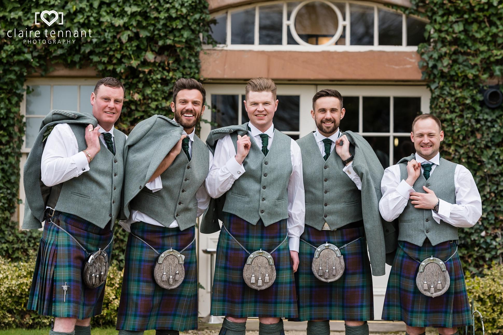 Archerfield House groomsmen