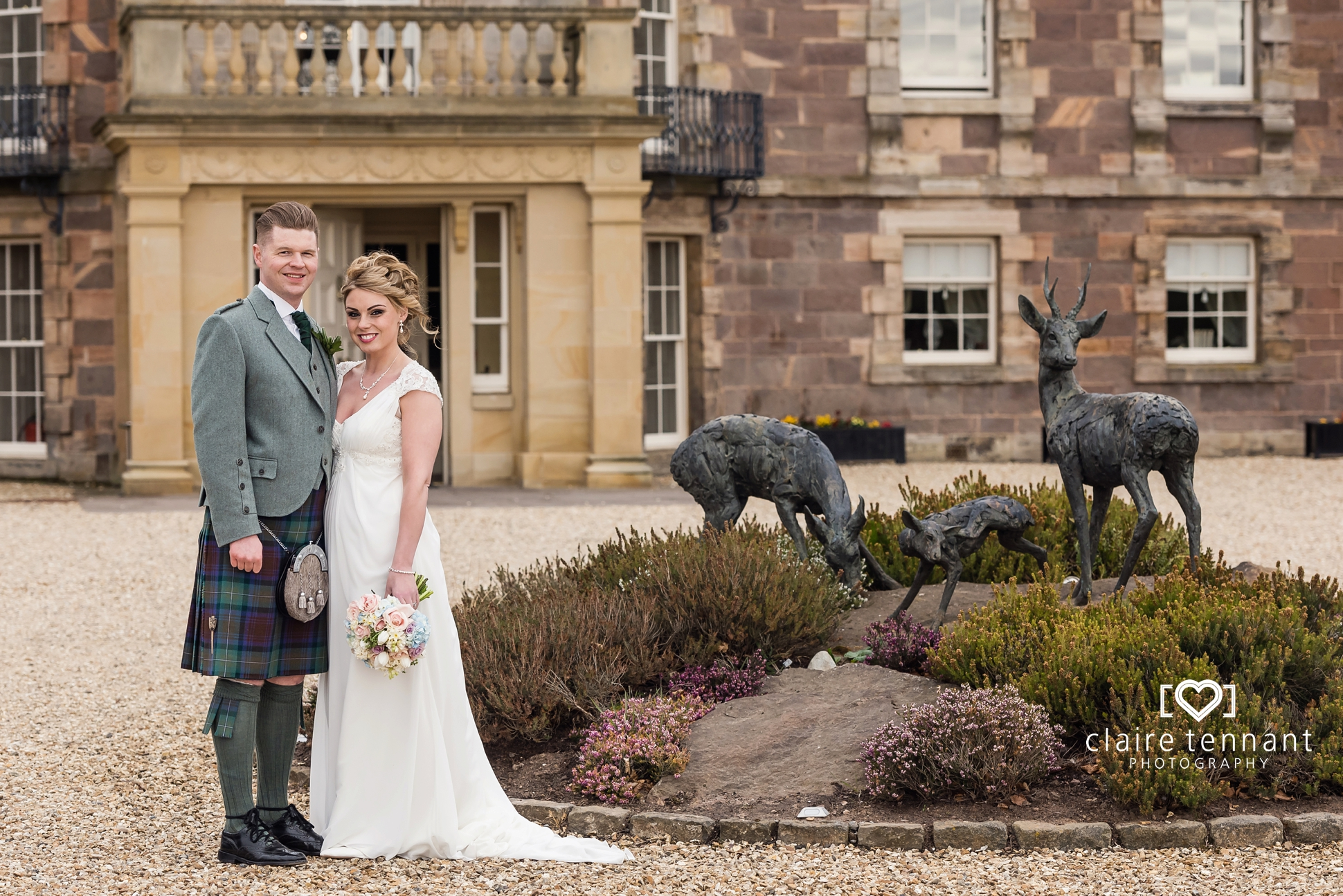Spring Archerfield House and Waterfront Wedding