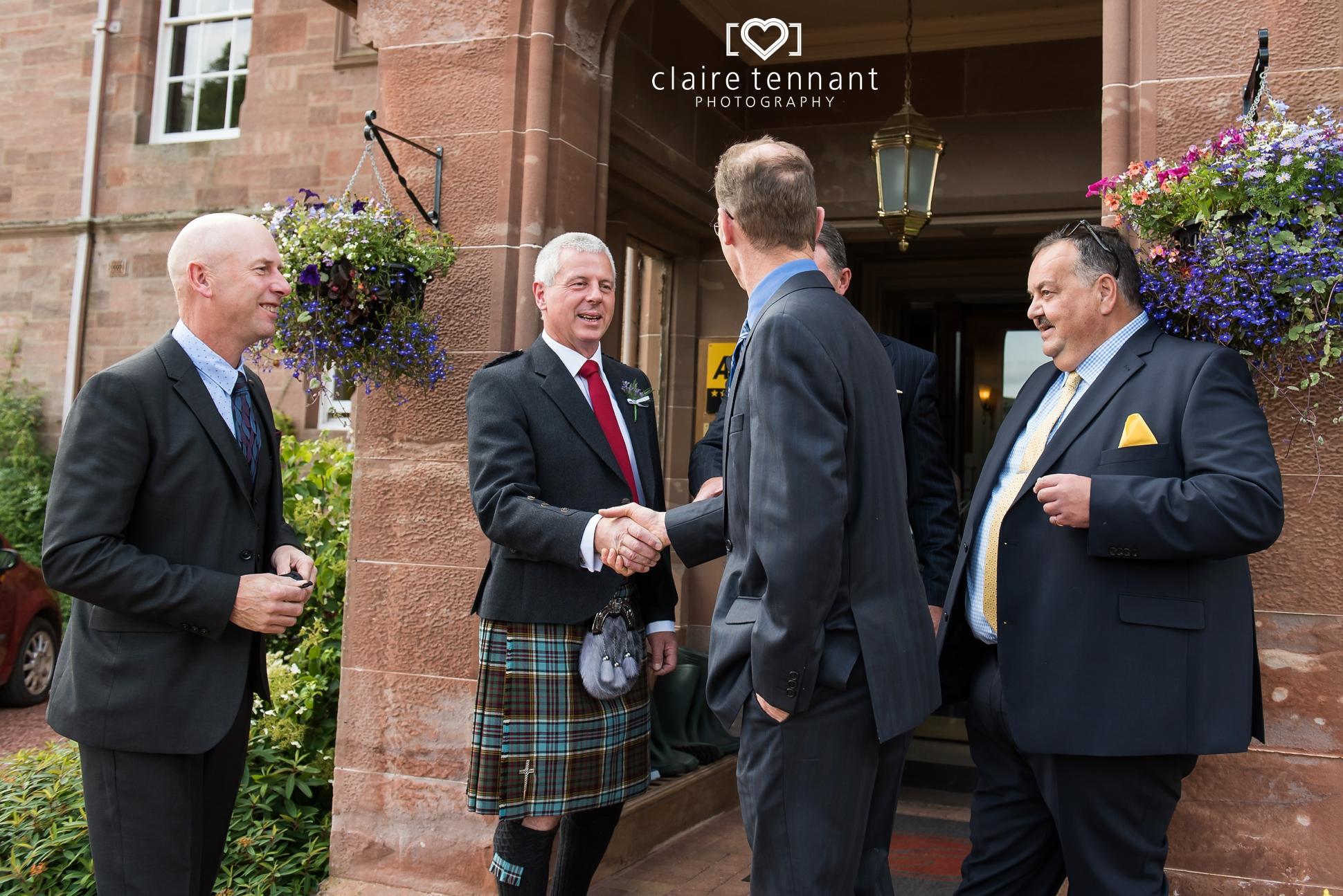 Cringletie House wedding arrivals