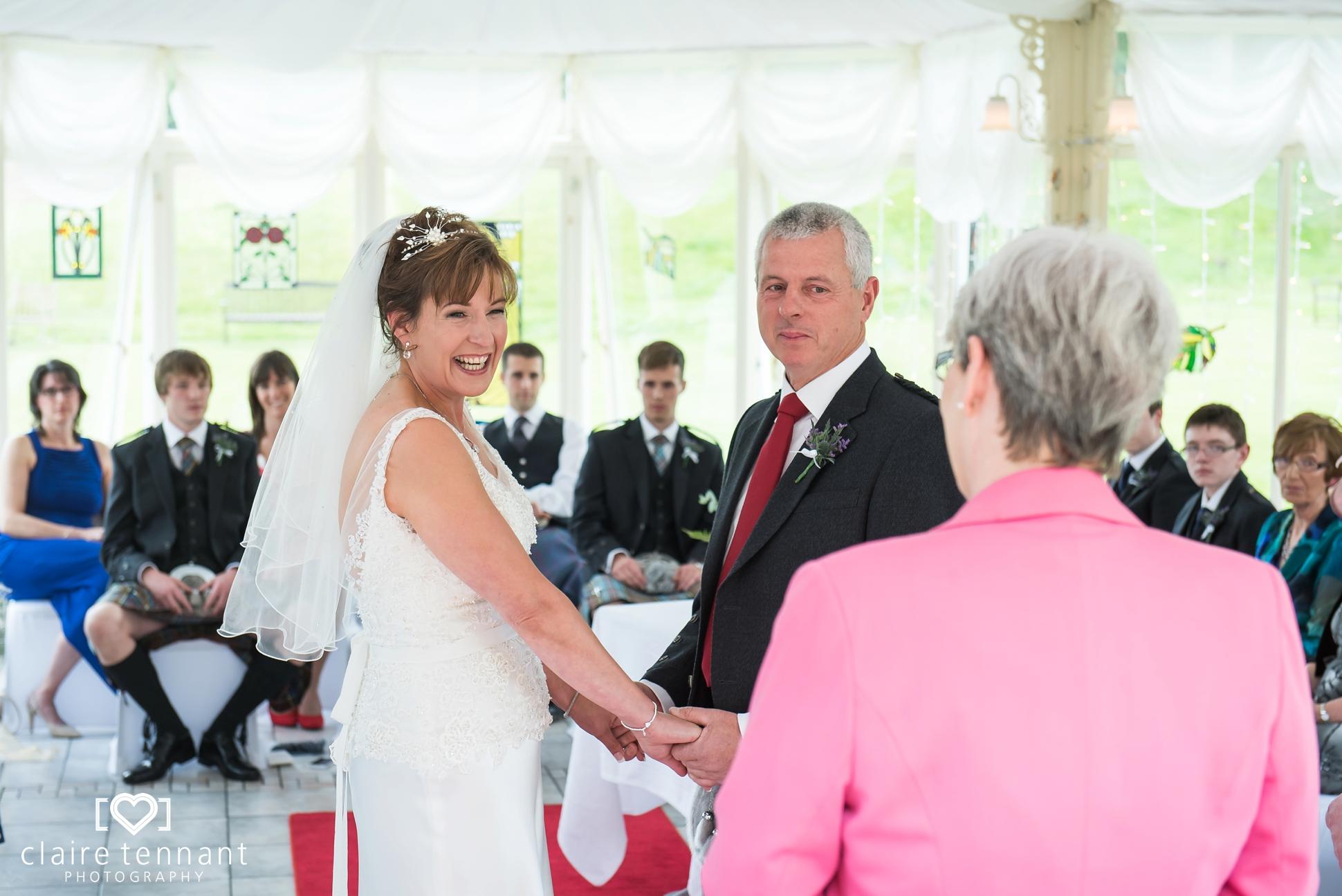 Cringletie House wedding ceremony