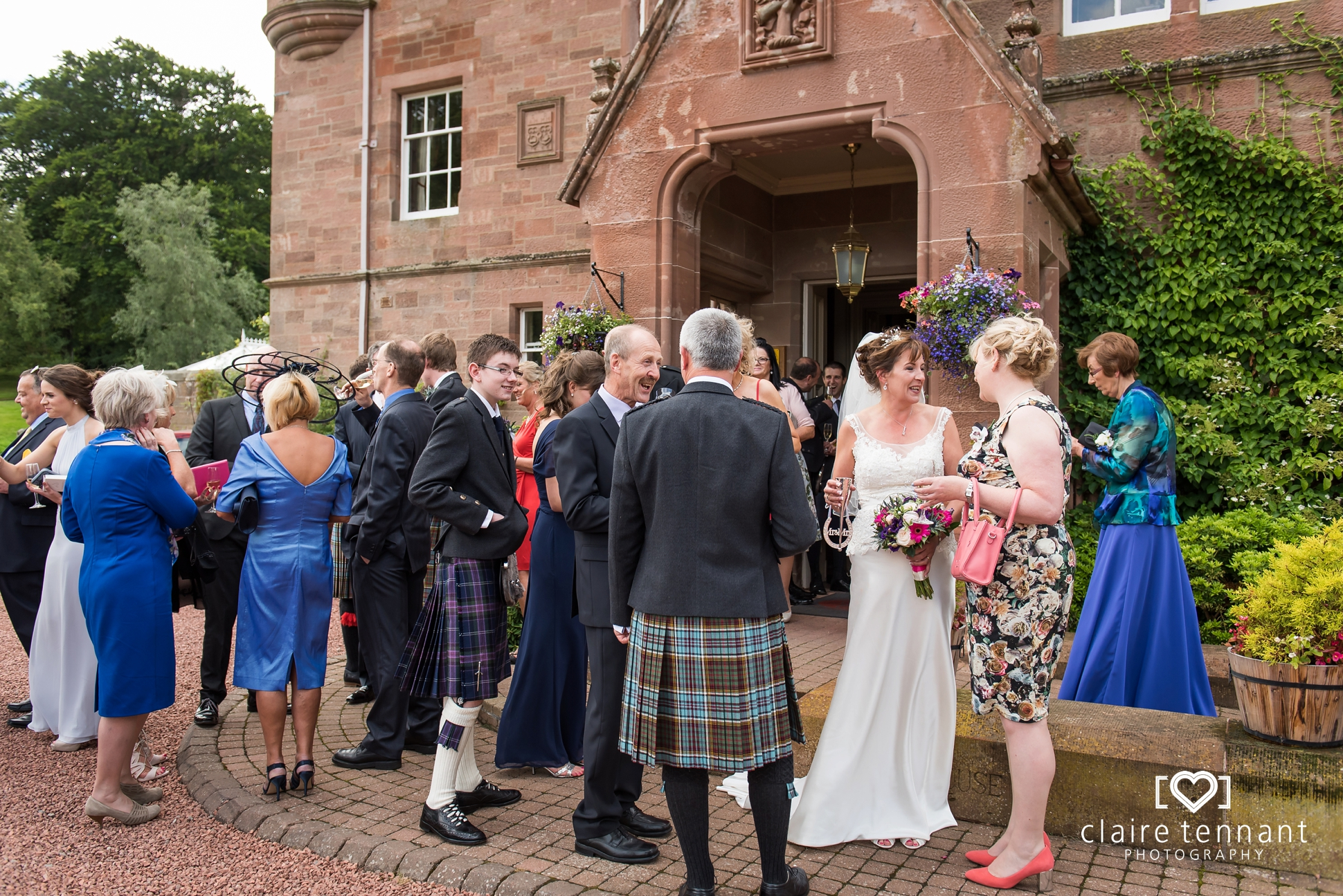 Cringletie House wedding reception