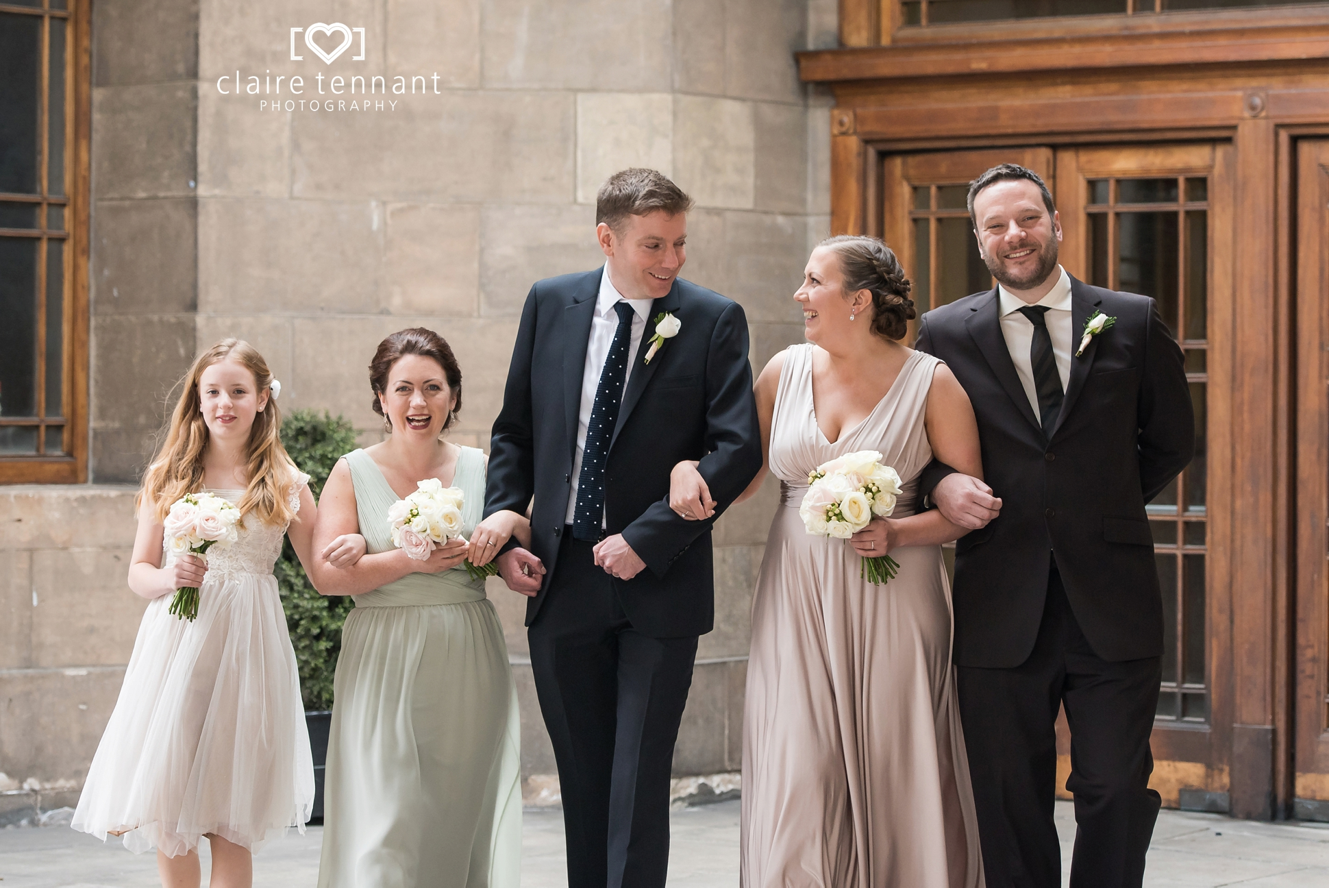 Leith Registry Office wedding group photo