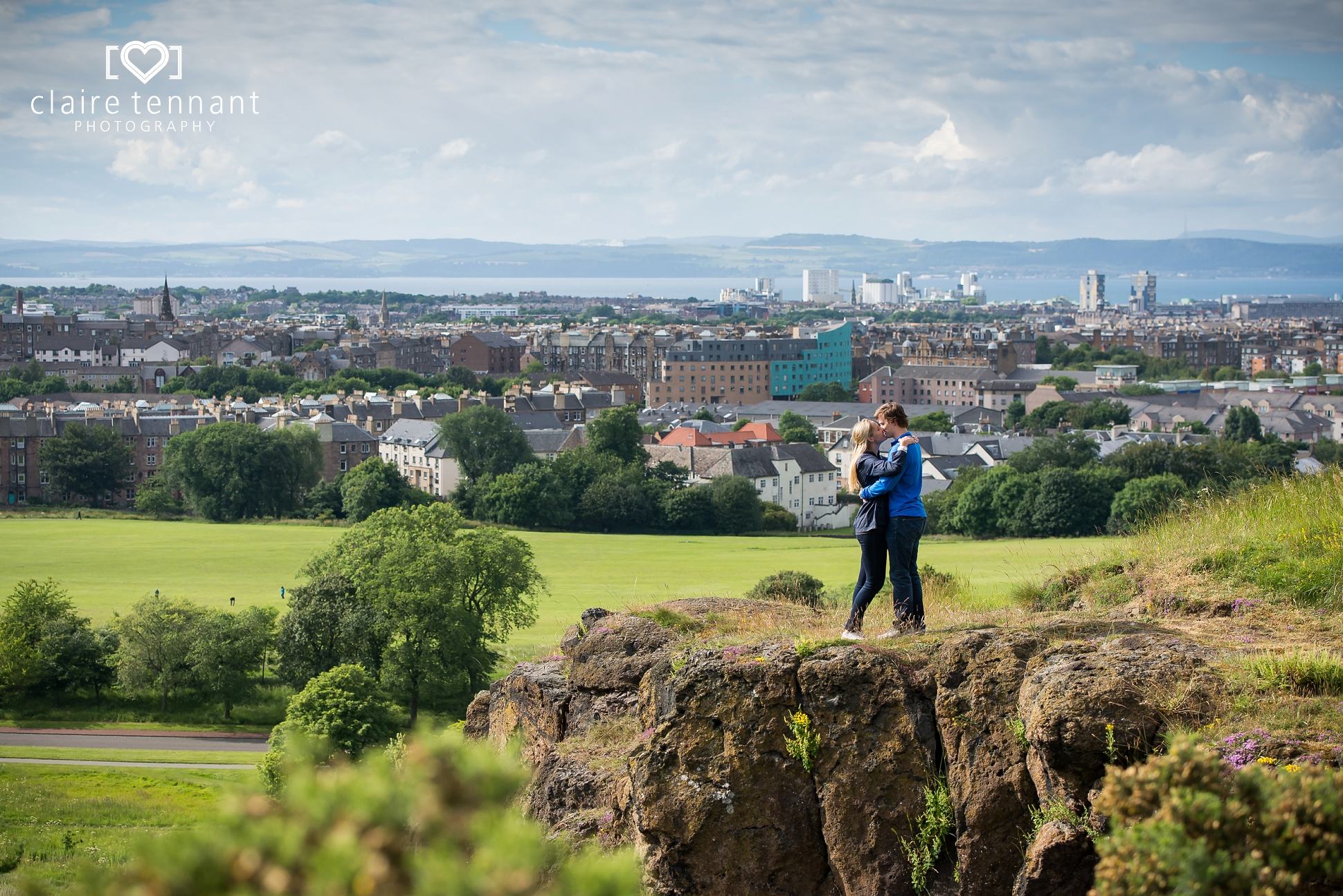 Edinburgh couple Arthurs seat