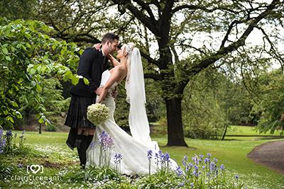 Edinburgh George Hotel wedding photography on a sunny day
