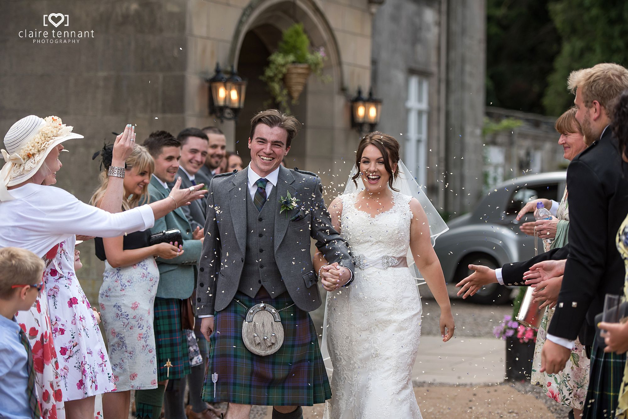 summer wedding at Melville Castle Hotel