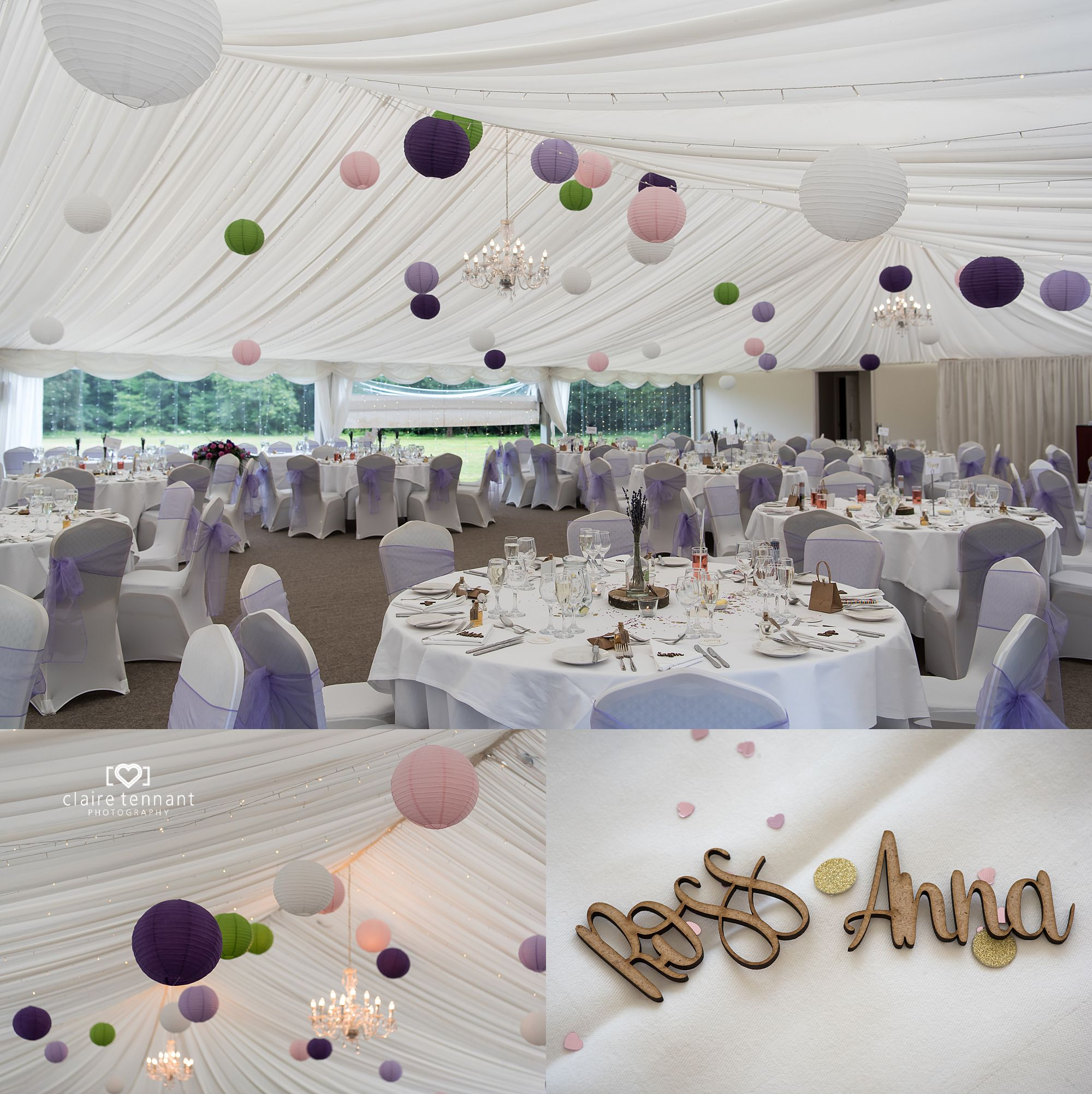 wedding marquee at Melville Castle Hotel