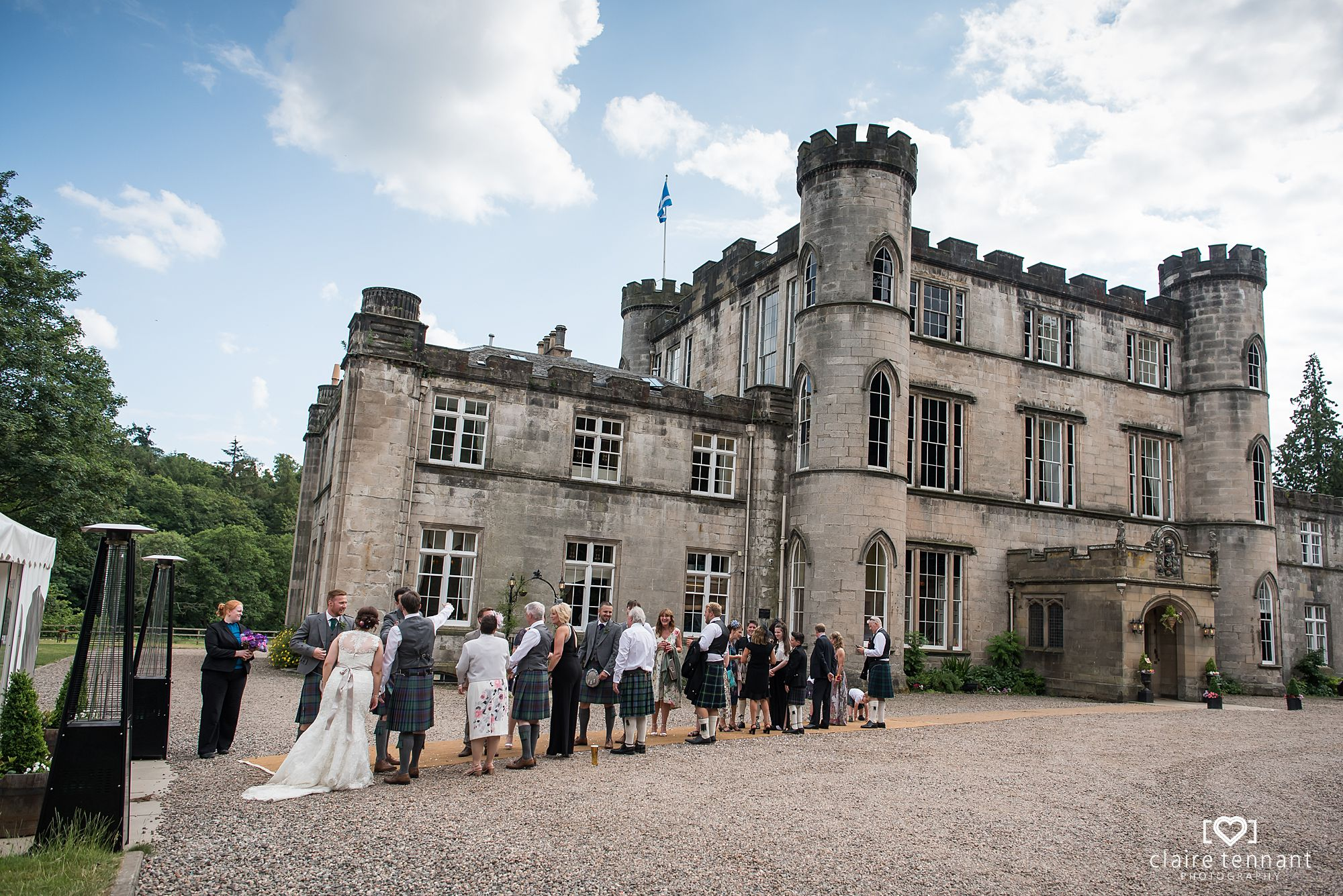 receiving line at Melville Castle Hotel