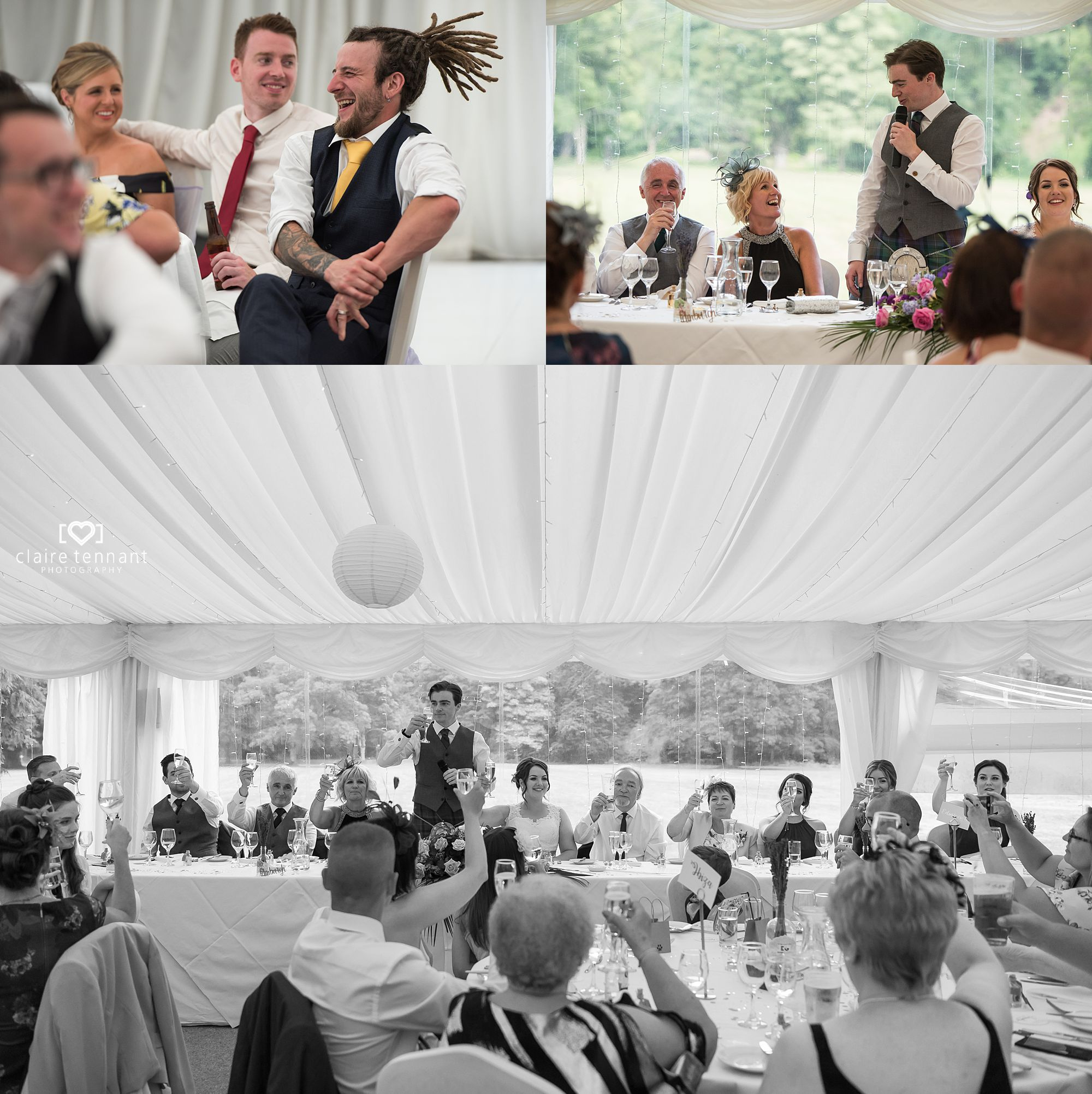 speeches at Melville Castle Hotel