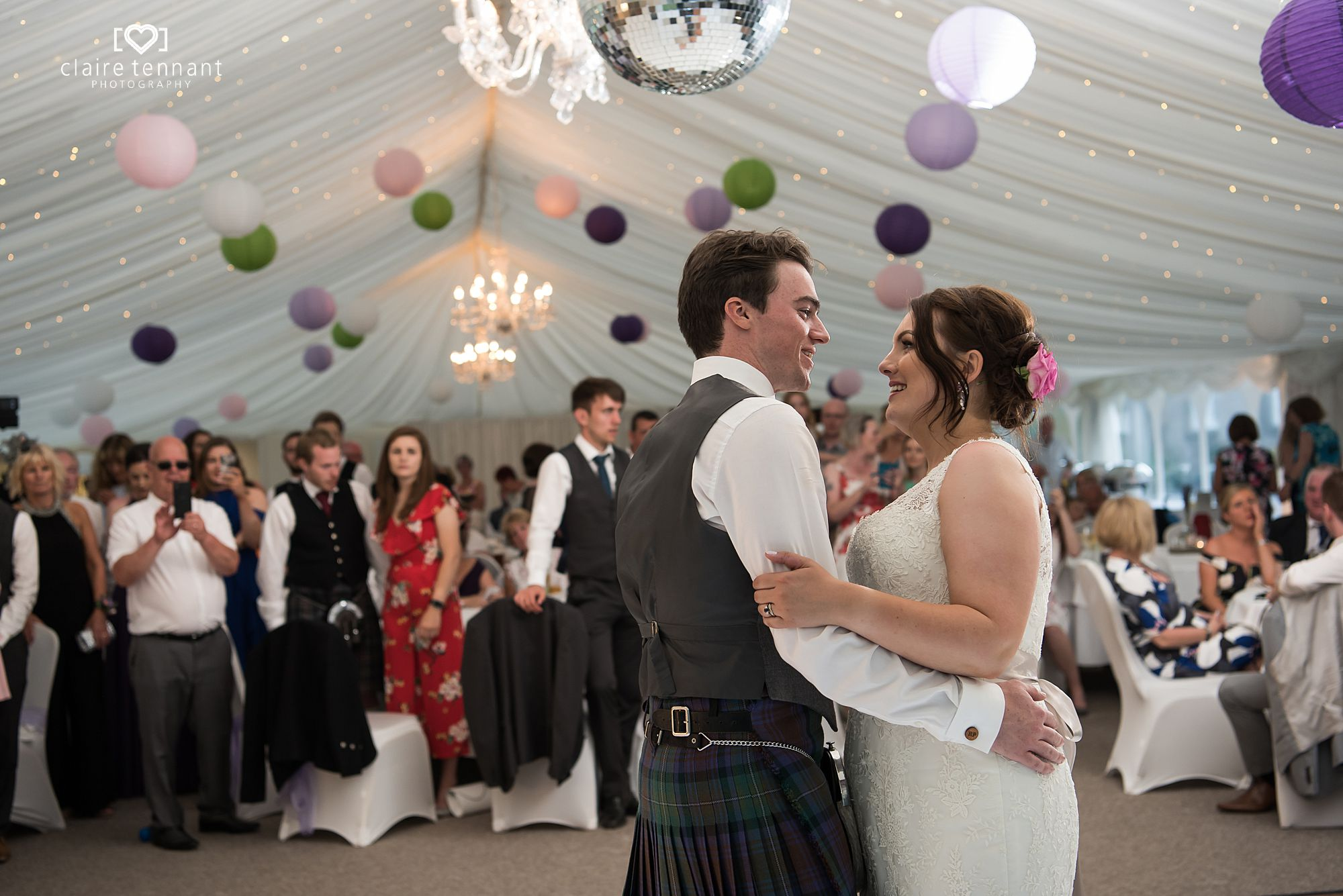 dancing at Melville Castle Hotel