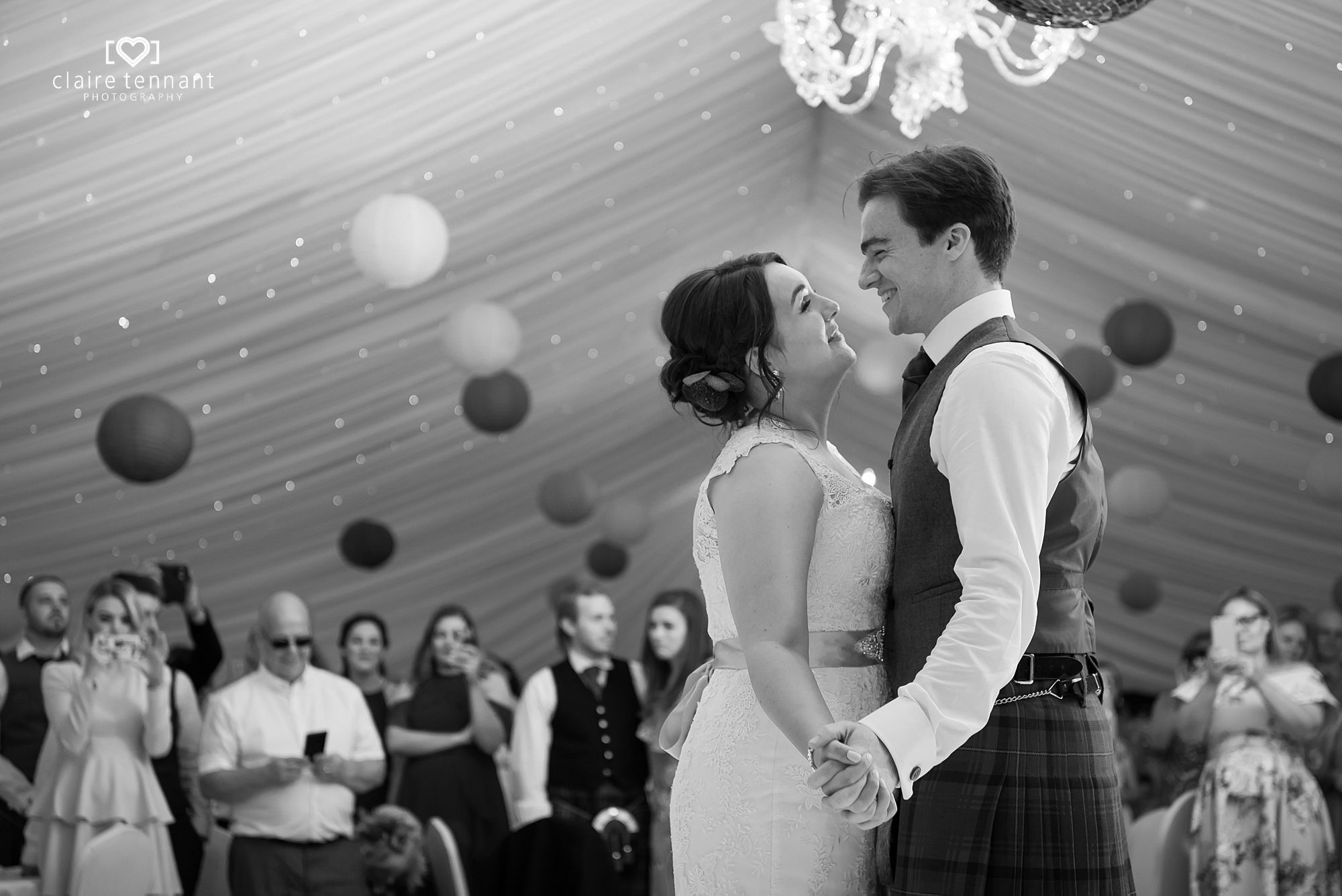 First Dance at Melville Castle Hotel