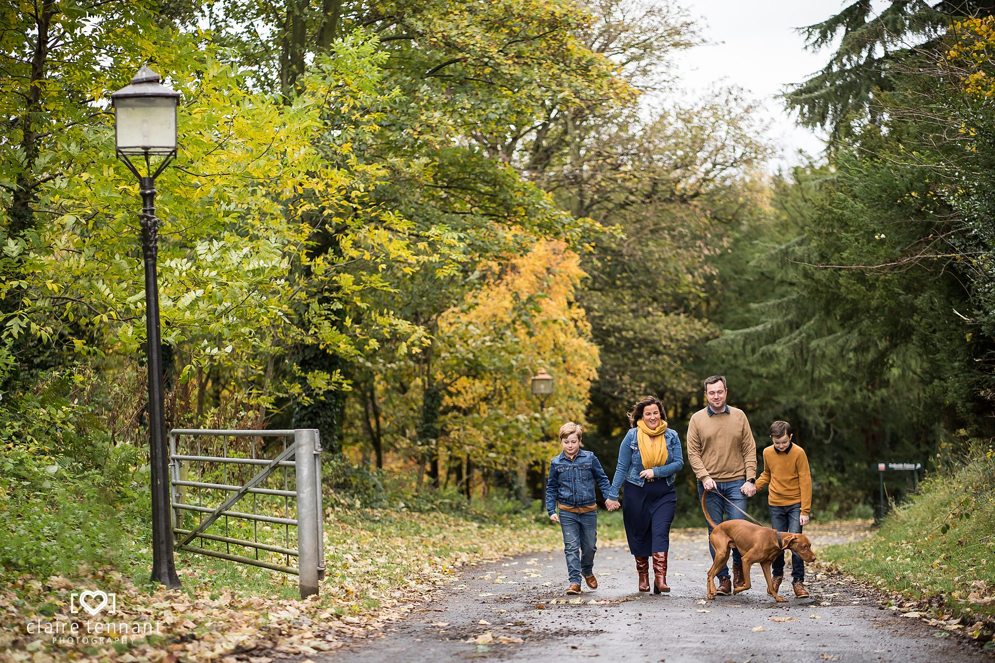 Beautiful Autumn Family Shoot at Dalkeith Country Park near Edinburgh