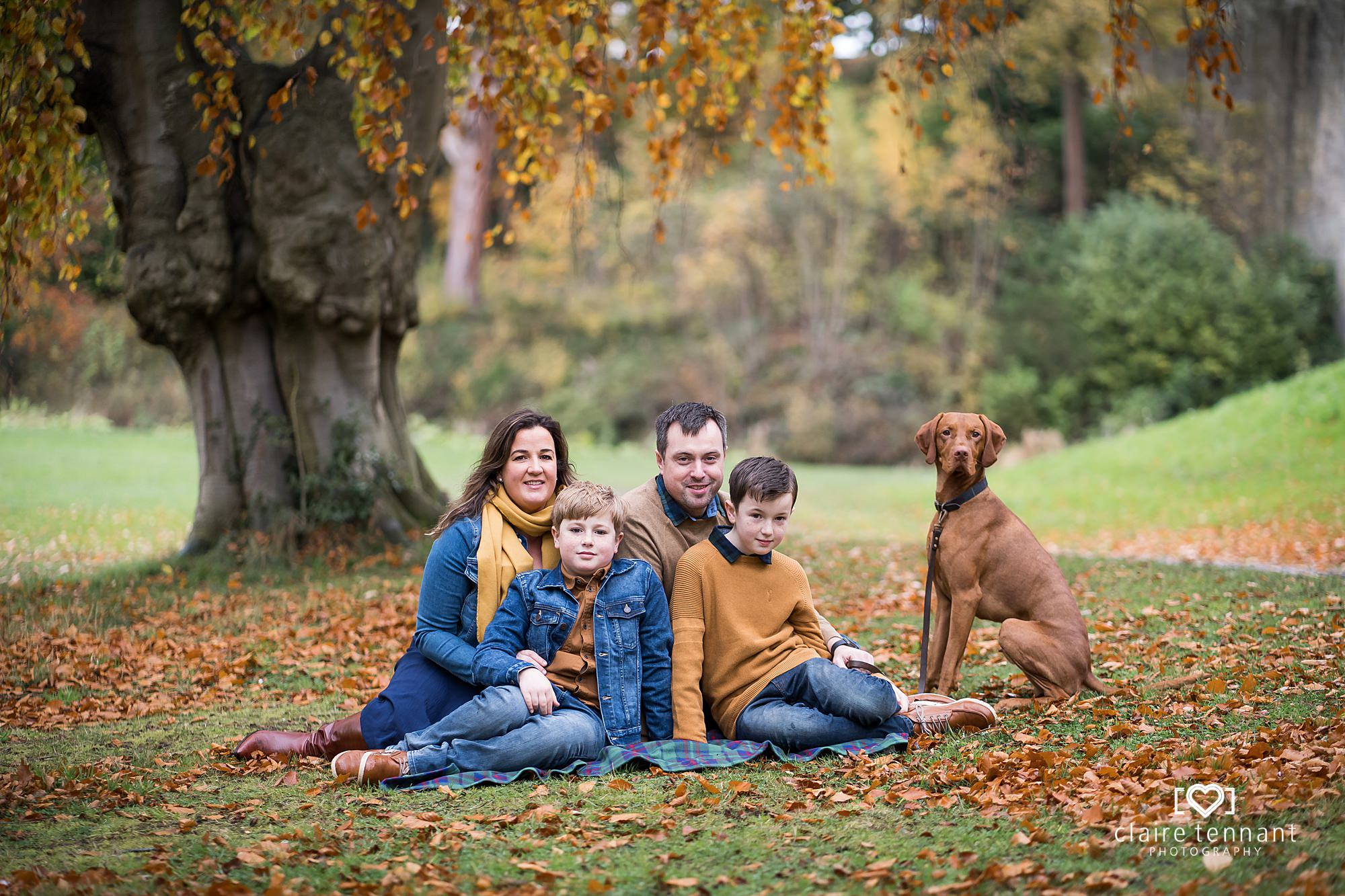 Beautiful Autumn Family Shoot at Dalkeith Country Park near Edinburgh