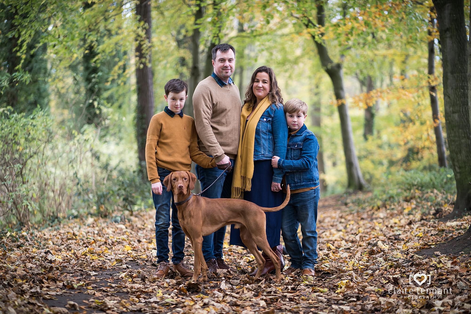 Autumn family shoot midlothian