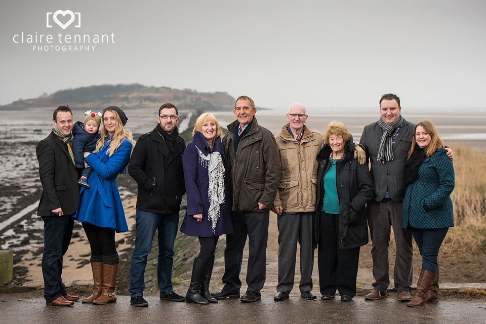 Surprise family photography session gift in Cramond, Edinburgh