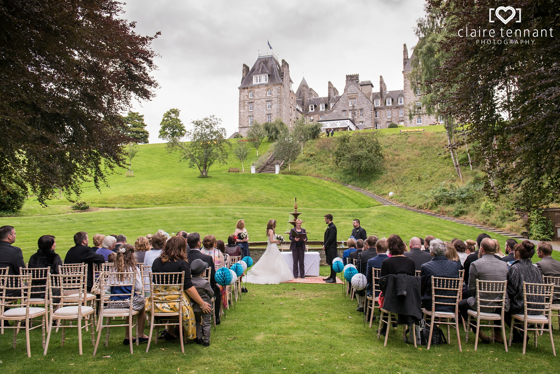 Atholl Palace Hotel Wedding  Featuring Picturesque Outdoor Ceremony