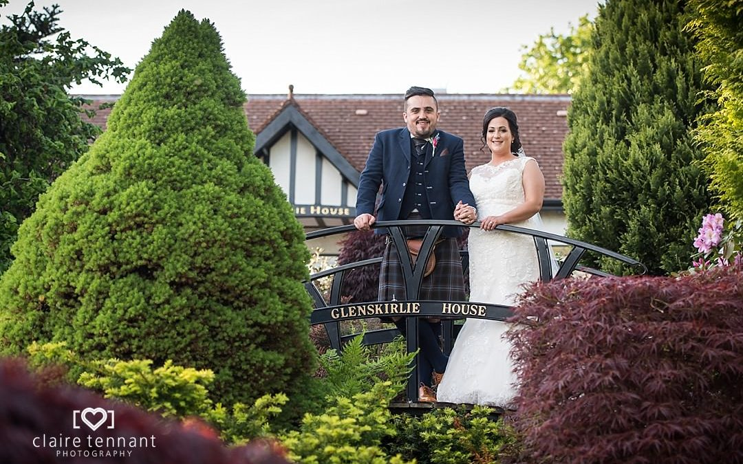 Beautiful Glenskirlie Castle wedding on a sunny Summers day