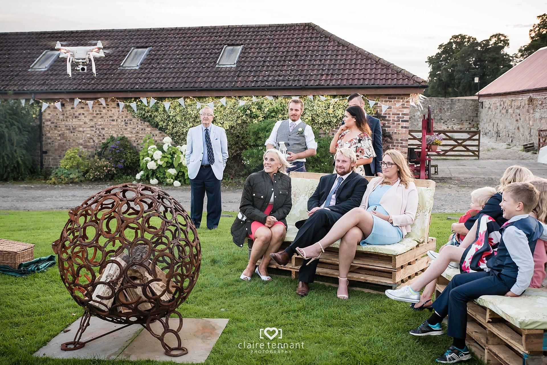 Relaxed Scottish farm wedding