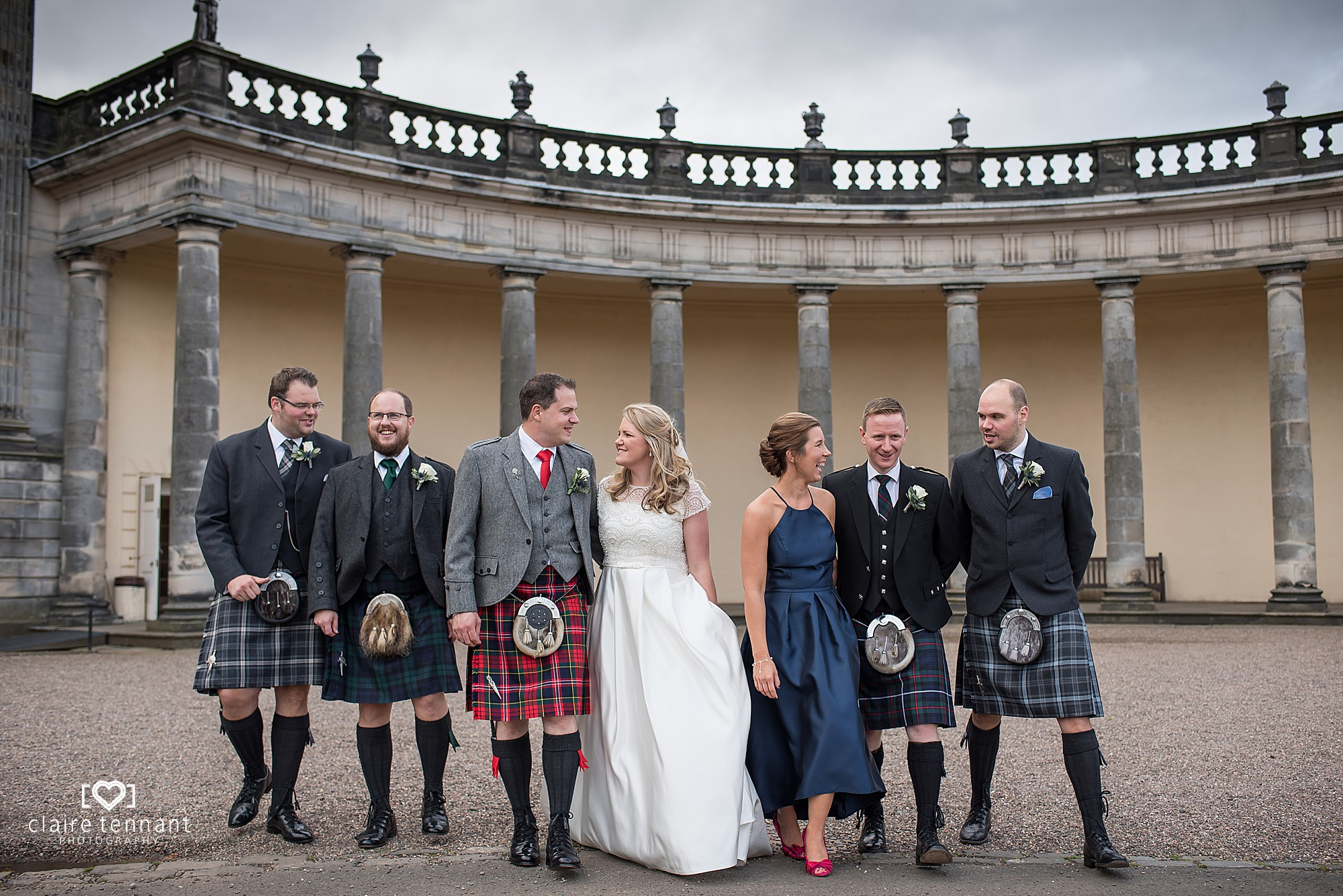 Hopetoun House Wedding Party