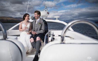 Springtime Outdoor Wedding at The Cruin, Loch Lomond